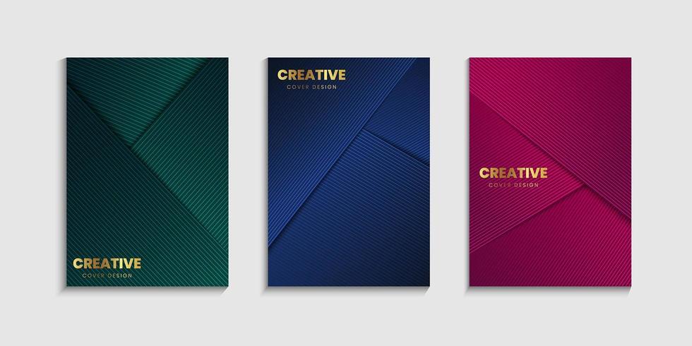 Set di sfondo copertina di lusso