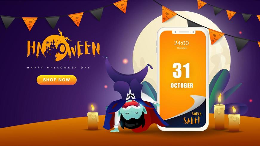 Halloween Mobile webbapplikation Banner