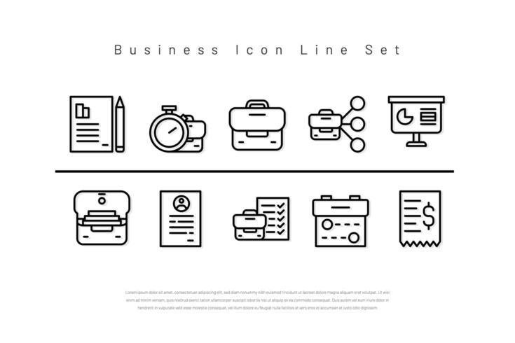 Icona linea busines versione linea