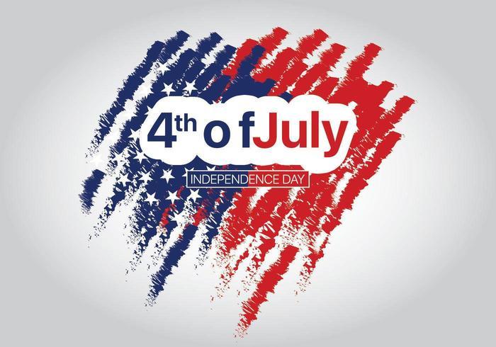 4 luglio festa dell'indipendenza con sfondo astratto
