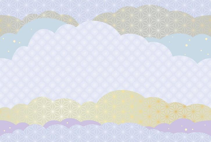 Modèle de carte de nouvel an sans soudure japonais