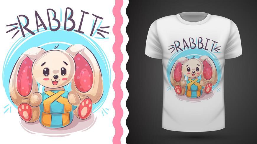 Happy easter rabbit - idea for print t-shirt vector