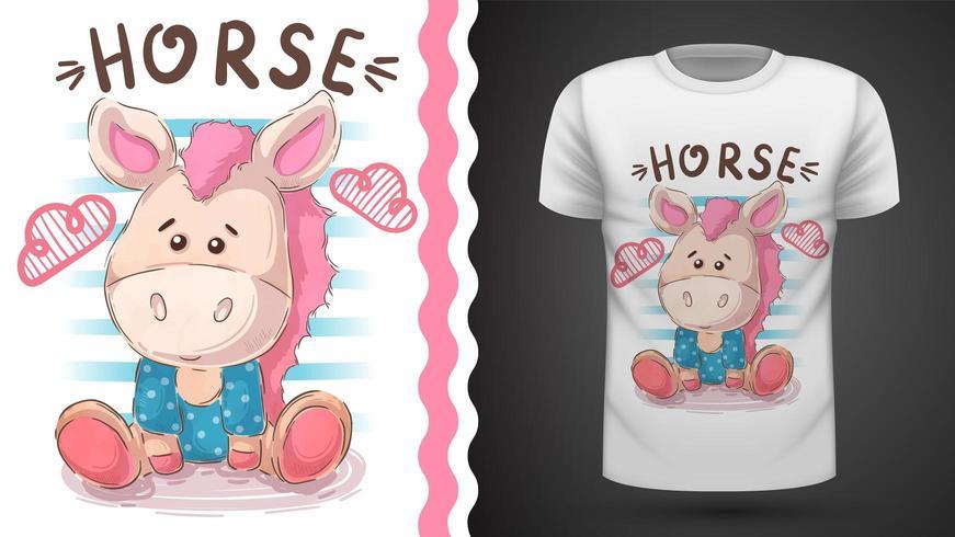 Teddy horse - idea for print t-shirt