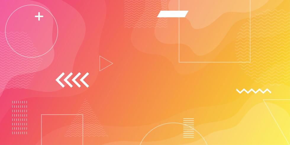 Colorful abstract minimal geometric background