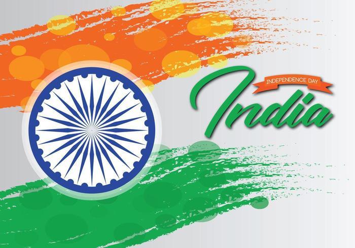 Pennellata Independence Day India con effetto onda