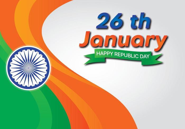 Bandiera dell'effetto onda India giorno dell'indipendenza