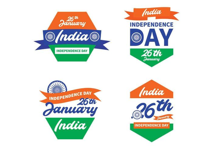 Badge collection for India independence day
