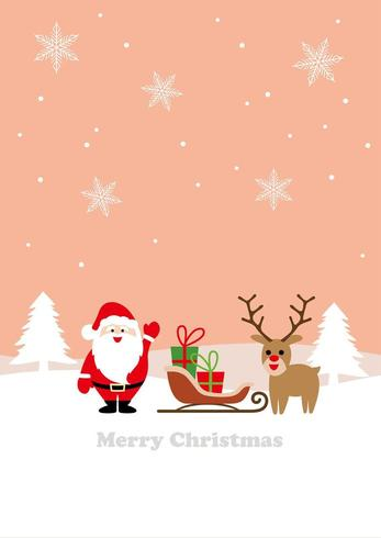Renne di Babbo Natale e una slitta