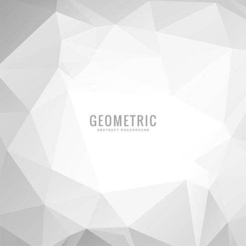 Light silver gray vector polygon geometric background