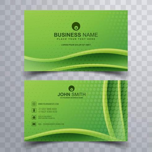 Bellissimo set di biglietti da visita verde