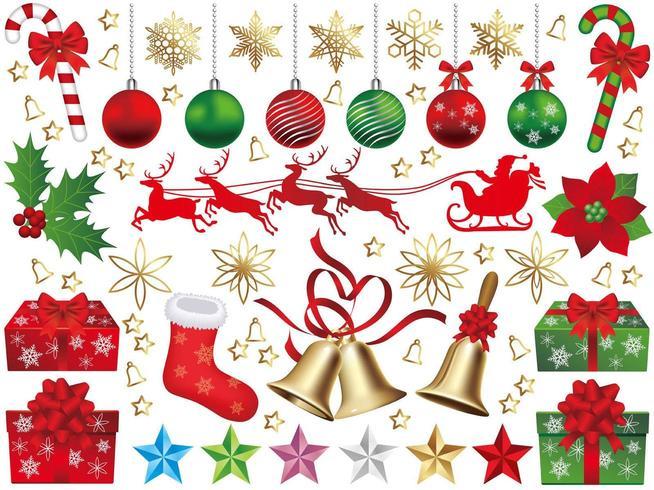 Conjunto de elementos de Navidad aislado
