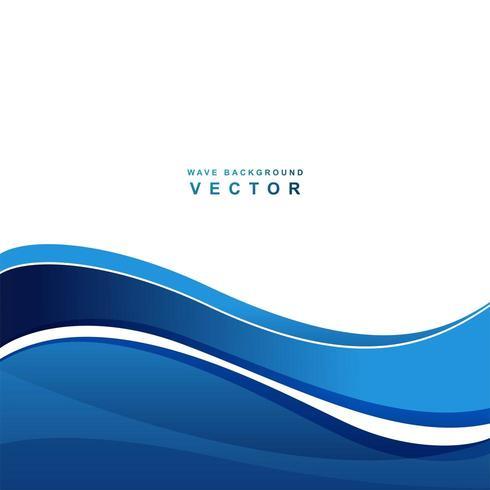 Illustrazione blu moderna dell'onda di flusso