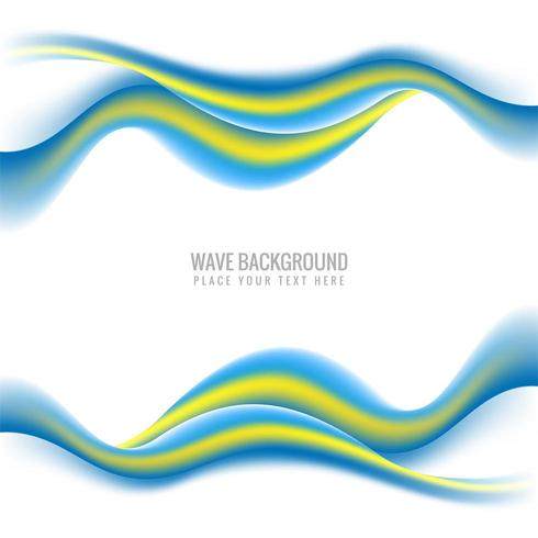 Abstract smooth colorful stylish wave background