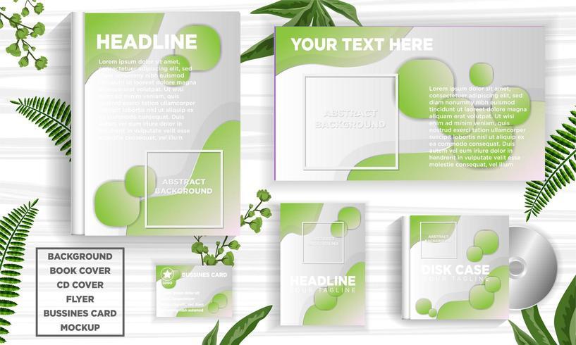 Green abstract design banner web template set