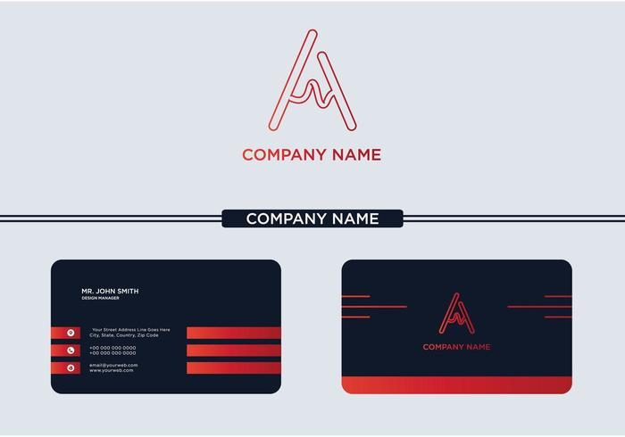 Creative Letter A Logo and Business Card