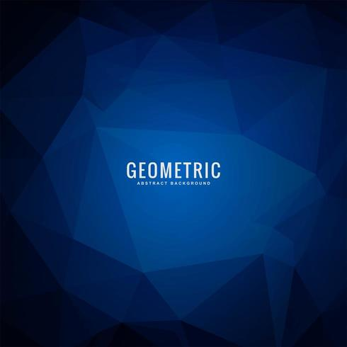 Abstract Geometric Dark Blue Polygonal background