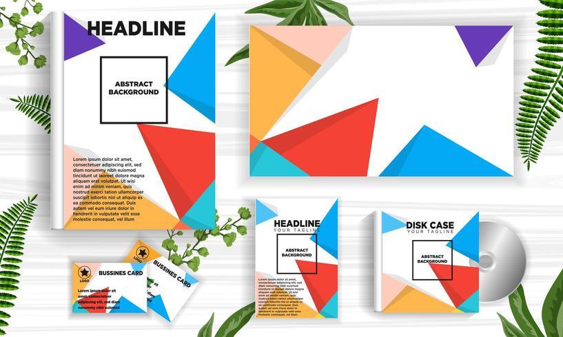 Retro Geometric abstract design banner web template set