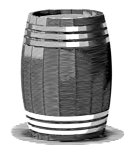 Engraved Old Barrel