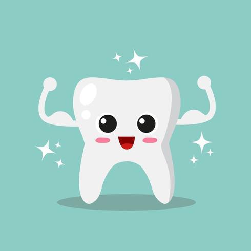 Sterke en glanzende tand