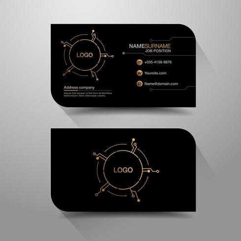 Business name card with circuit design