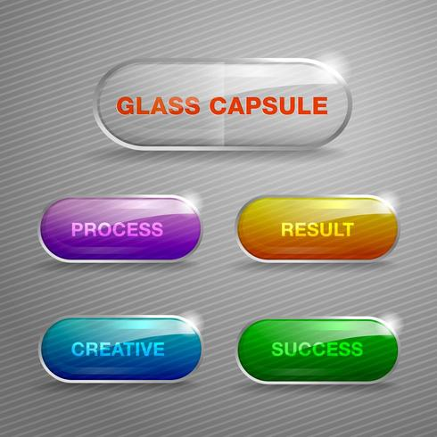 Glass capsule buttons