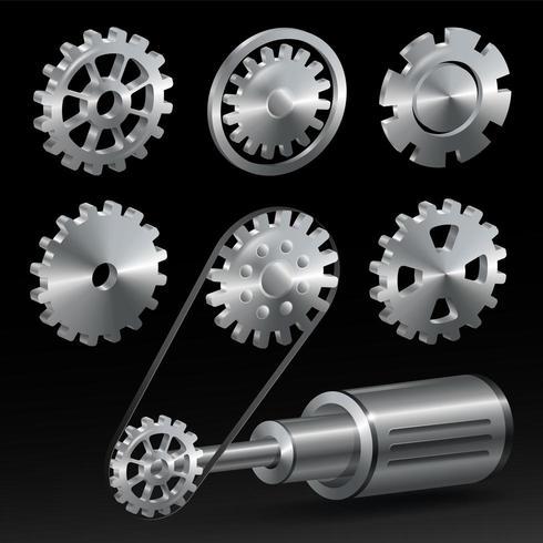 Set d'équipement industriel réaliste