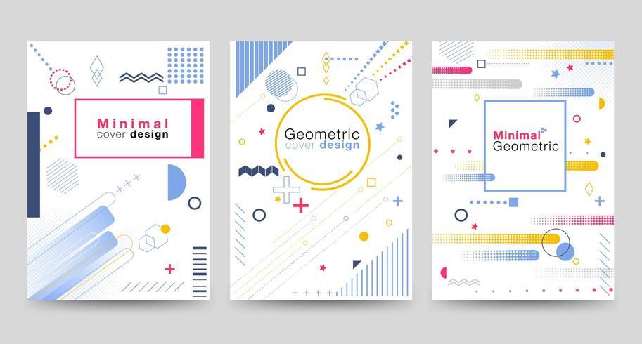 Copertina minimalista con forme geometriche