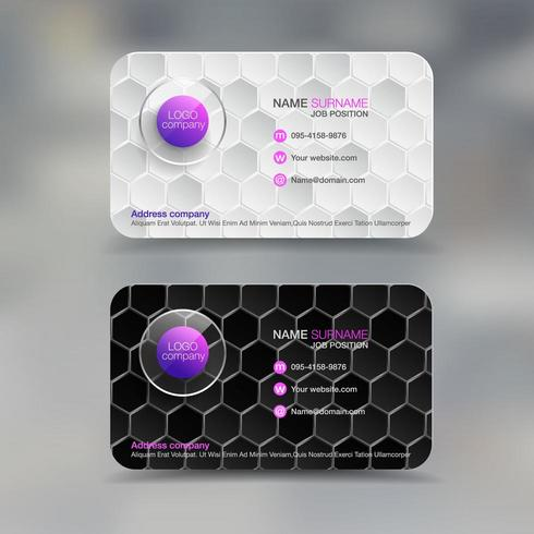 Business name card with diamond pattern
