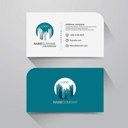 Business name card with modern building design