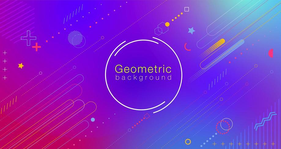 Gradiente geometrico astratto colorato