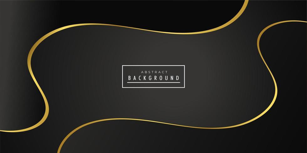 Black golden creative wave background  vector