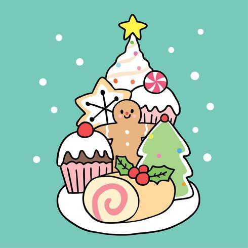 Cartoon cute Christmas sweet dessert