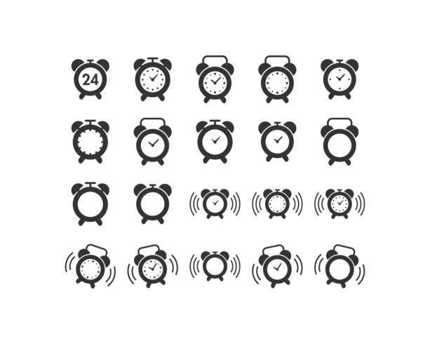 Conjunto de iconos de reloj despertador vector