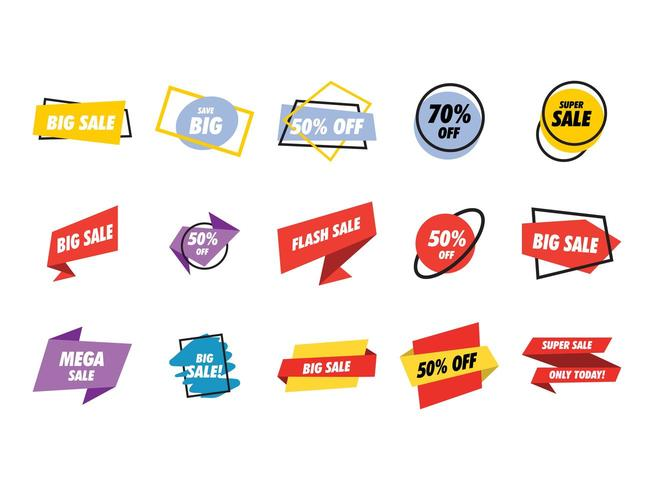 Sale banner collection set