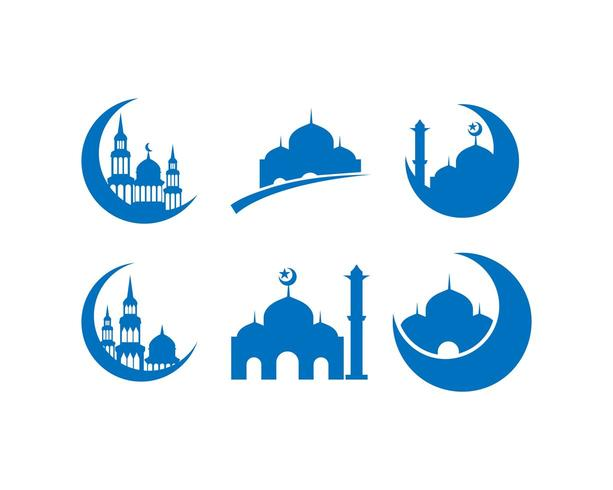 Ramadhan kareem ikonuppsättning