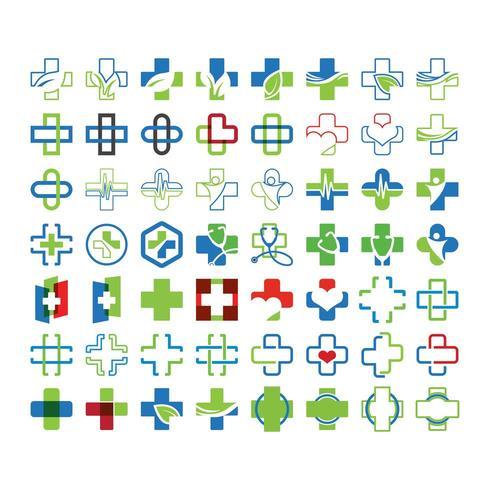 Mega collection set of medical crosses