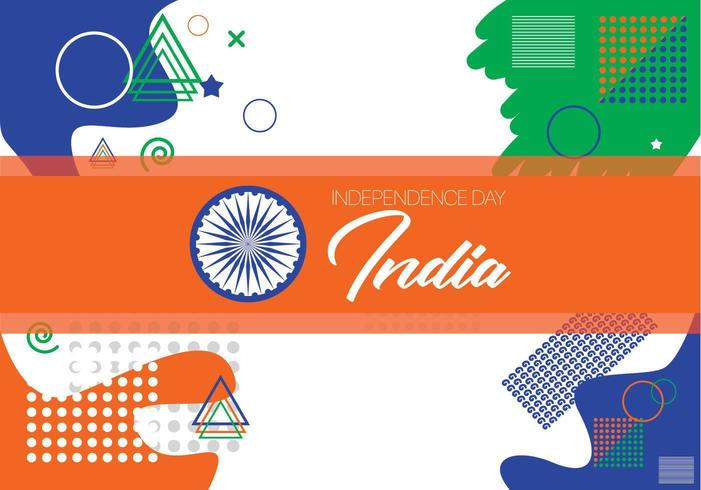 Memphis flag pattern design for India independence day