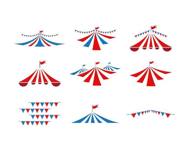 Circus tent collection set