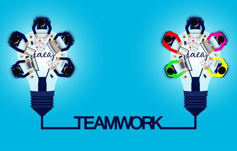 Concepto de reunión de negocios y trabajo en equipo.