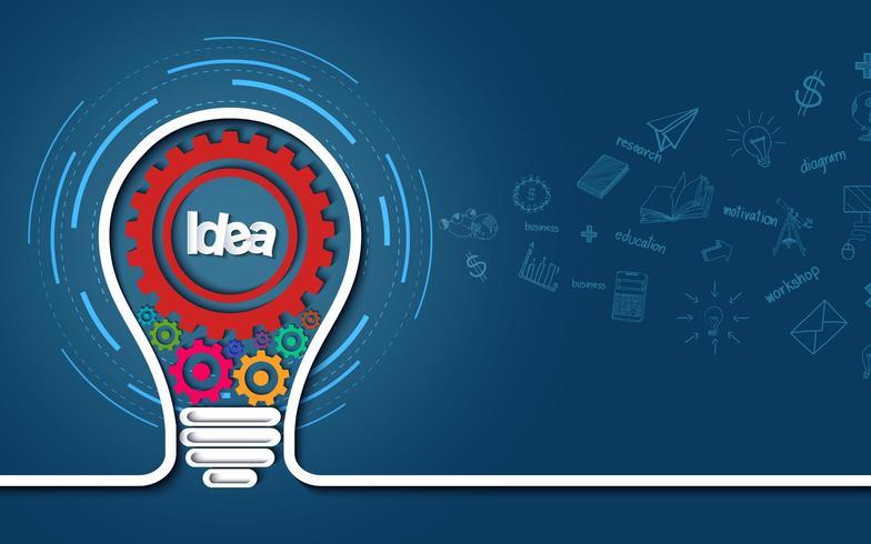 creative light buld idea concept