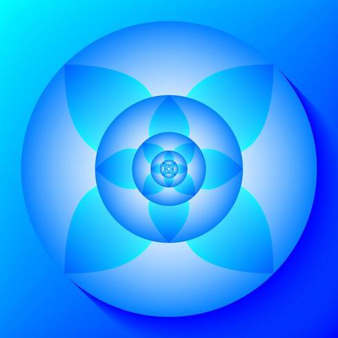 Concentric lotus pattern