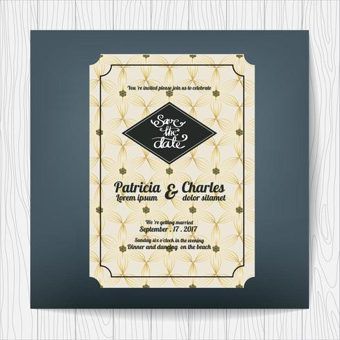 Wedding invitation card with luxury theme