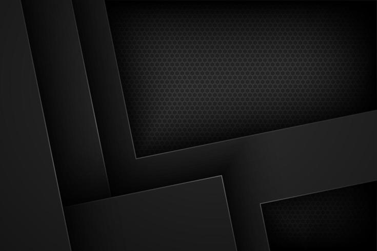 Black angled layered geometric shapes background