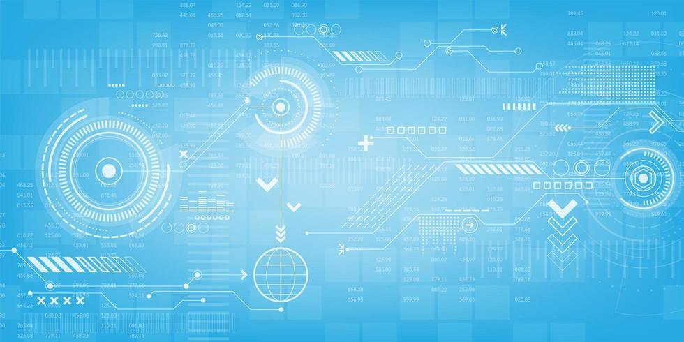 Tekniska växlar och digital displaydesign vektor