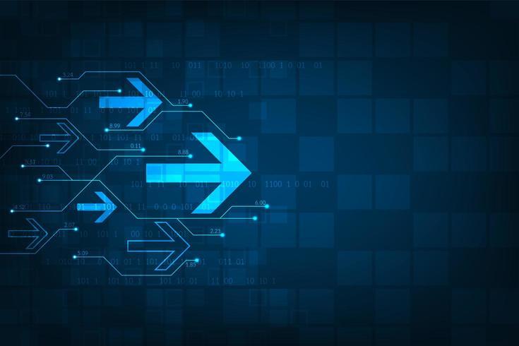 Glowing blue tech arrow pattern
