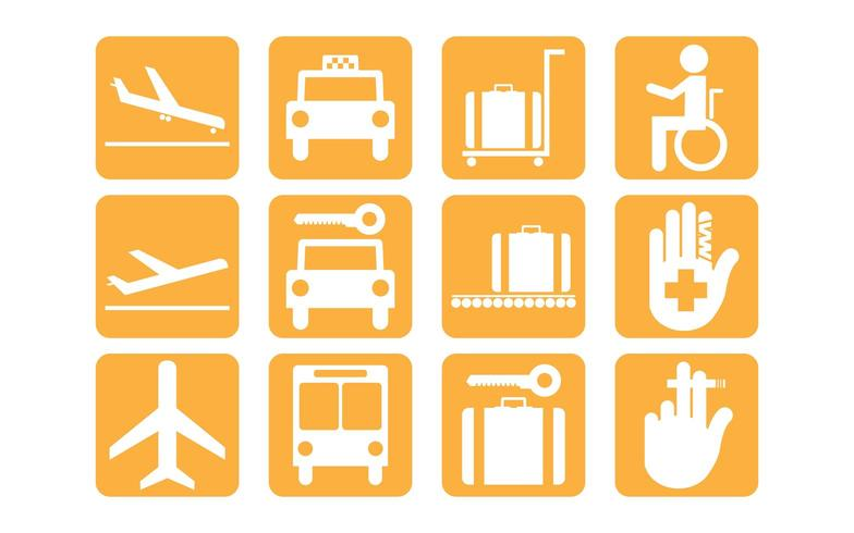Simple airport vector icons