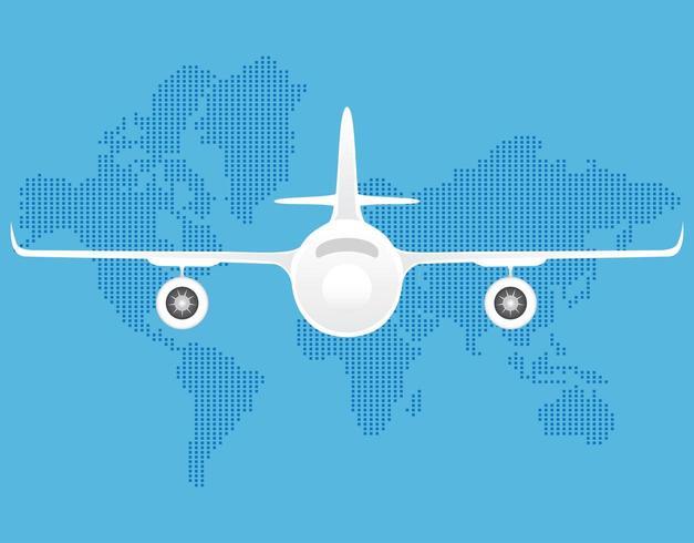 Illustrazioni piane di vettore aereo