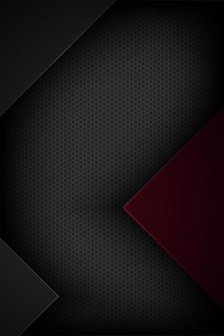 Vertical black and red cut paper design