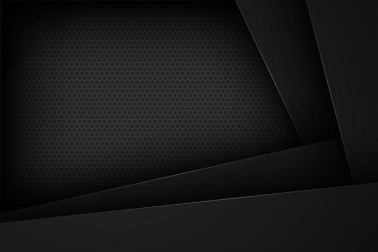 Design de efeito de papel sobreposto em ângulo preto vetor