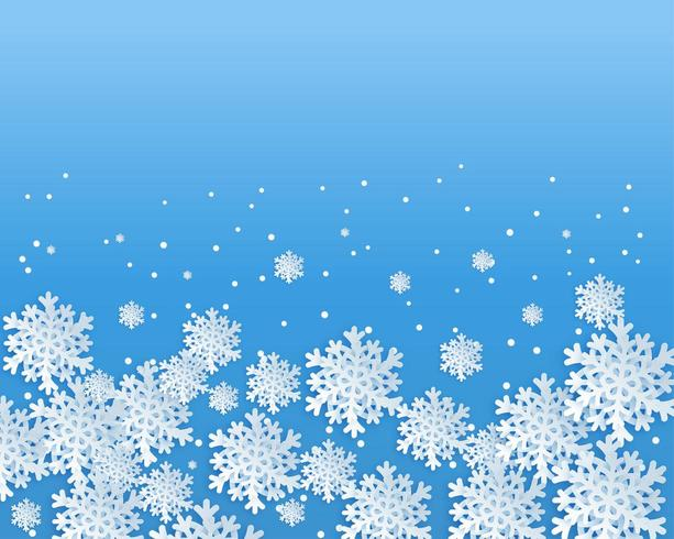 Snowflakes design backdrop